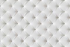 Sofa Texture Seamless Background de cuero, modelo de los cueros blancos Imagenes de archivo