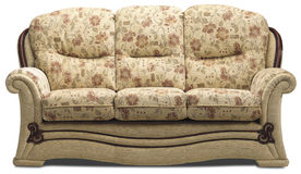 Sofa three seater on white Royalty Free Stock Images