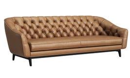 Sofa tufté classique d'isolement sur le fond blanc Illustration de Digital rendu 3d illustration de vecteur