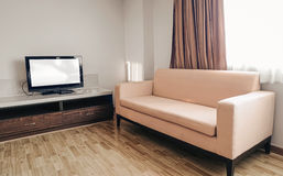 Sofa and tv in room Stock Photography
