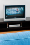 Sofa and TV. Simple interior Royalty Free Stock Photos