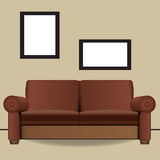Sofa two places in interior Stock Photos
