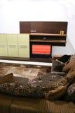 Sofa und Fernsehapparat Stockfoto