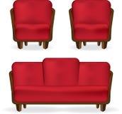 Sofa und Lehnsessel lizenzfreies stockbild
