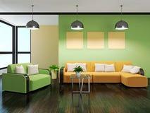 Sofa und Lehnsessel lizenzfreie abbildung