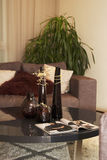 Sofa und Tetabelle Stockfotografie