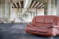 Sofa under a bridge Royalty Free Stock Images
