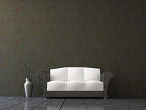 Sofa with a vase Stock Photo