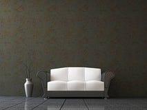 Sofa with a vase. Near the wall Stock Photo