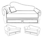Sofa Vector 14 Royalty Free Stock Images