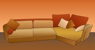 Sofa vector Stock Image