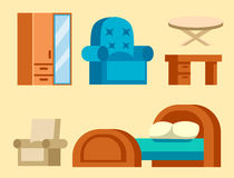Sofa  vector illustration isolated furniture interior living element comfortable home room set house wardrobe Stock Photos