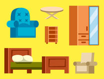Sofa  vector illustration isolated furniture interior living element comfortable home room set house wardrobe Royalty Free Stock Photo