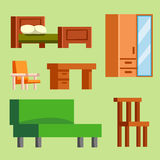 Sofa  vector illustration isolated furniture interior living simple comfortable home room set house wardrobe Stock Images