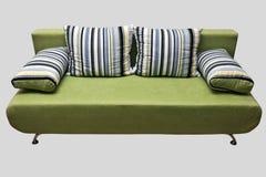 Sofa vert Photographie stock libre de droits