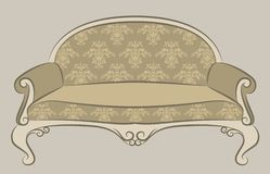 Sofa for vintage interior Royalty Free Stock Images