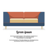 Sofa Vintage Style moderno Imagen de archivo libre de regalías