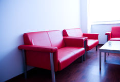 Sofa in waiting room Stock Image