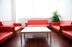Sofa in waiting room Stock Photography