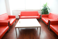 Sofa in waiting room Stock Photo