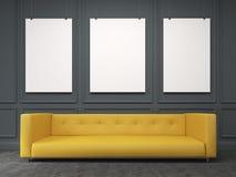 Sofa at the wall. Front view Stock Image