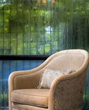Sofa in wet day. A sofa lie in the reading room Royalty Free Stock Photo