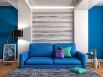sofa wewnętrzna ilustracja 3 d Obraz Stock