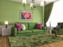 sofa wewnętrzna ilustracja 3 d Obrazy Stock