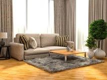sofa wewnętrzna ilustracja 3 d Zdjęcia Royalty Free