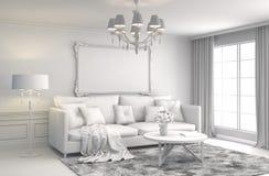 sofa wewnętrzna ilustracja 3 d Obraz Royalty Free
