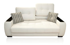 Sofa on white Stock Images
