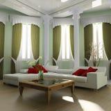 sofa white Royaltyfria Bilder