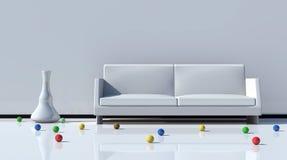 Sofa on white background Royalty Free Stock Photos