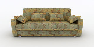Sofa on white background insulated 3d Royalty Free Stock Image