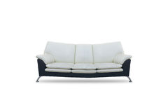 Sofa and white color on isolated white background . Royalty Free Stock Photography