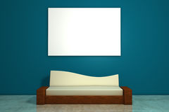 Sofa And White Picture Stock Photos