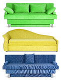 Sofa on white, set Stock Images
