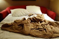 sofa wyciągnięta łóżka Fotografia Royalty Free