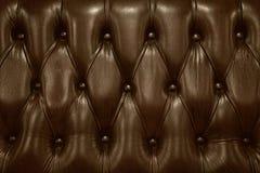 Sofa zurück hergestellt vom braunen Leder Lizenzfreies Stockfoto