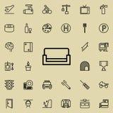 Sofaikone Ausführlicher Satz der minimalistic Linie Ikonen Erstklassiges Grafikdesign Eine der Sammlungsikonen für Website, Webde vektor abbildung