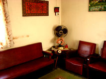 The Sofas. Beautiful ethnic furniture from an old Indian house Stock Photo