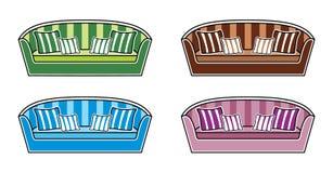 Sofas vektor illustrationer