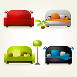 Sofas and beds. Royalty Free Stock Photography