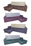Sofas in different colors Royalty Free Stock Photography