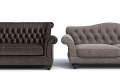 Sofas. Modern sofas on white background Stock Image