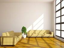 Sofas och växt stock illustrationer