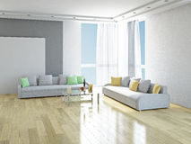 Sofas with pillows Stock Image
