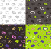 Sofas seamless pattern background Stock Photo