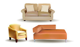 Sofas set Royalty Free Stock Image