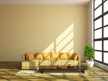 Sofas and table Stock Images